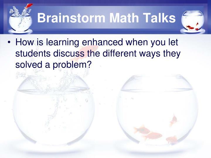 Brainstorm Math Talks