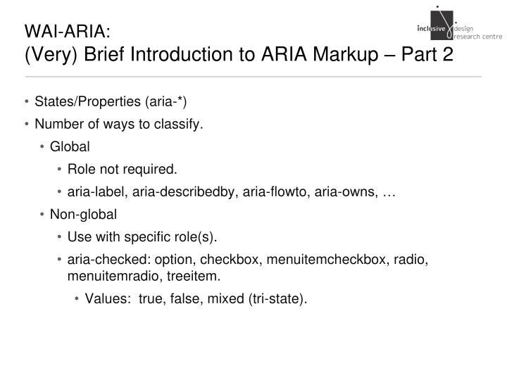 WAI-ARIA: