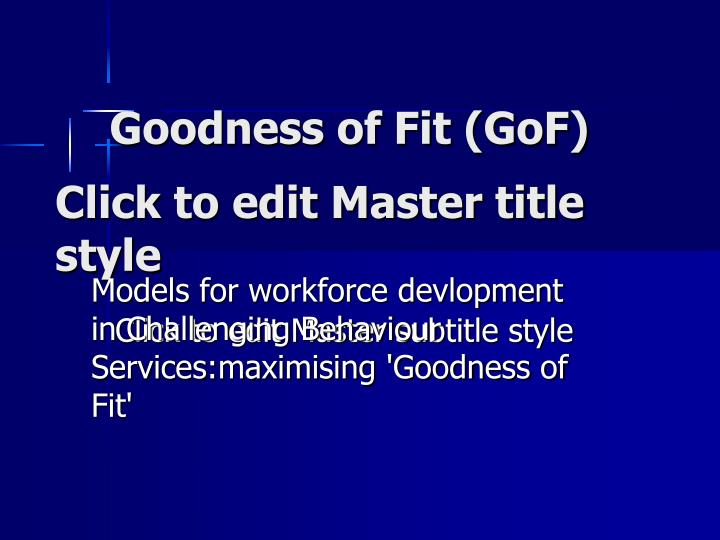 Goodness of fit gof