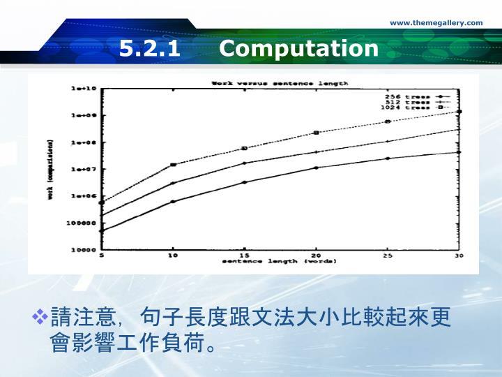 5.2.1 Computation