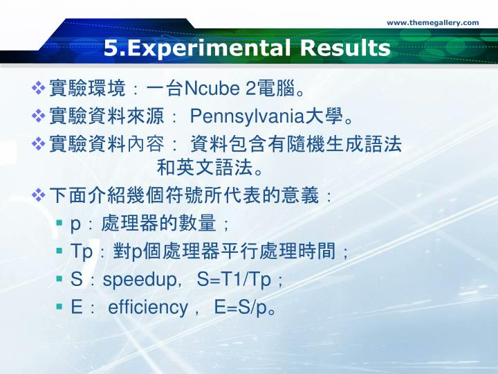 5.Experimental Results