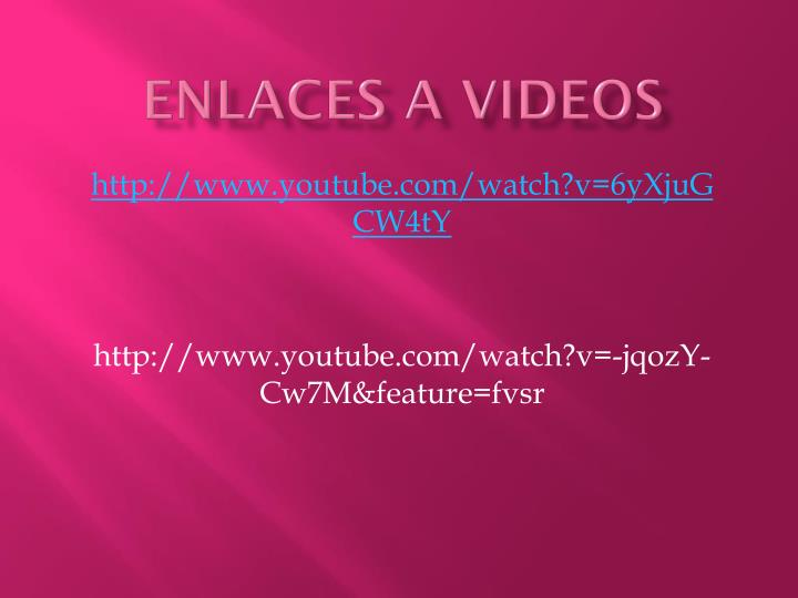 ENLACES A VIDEOS