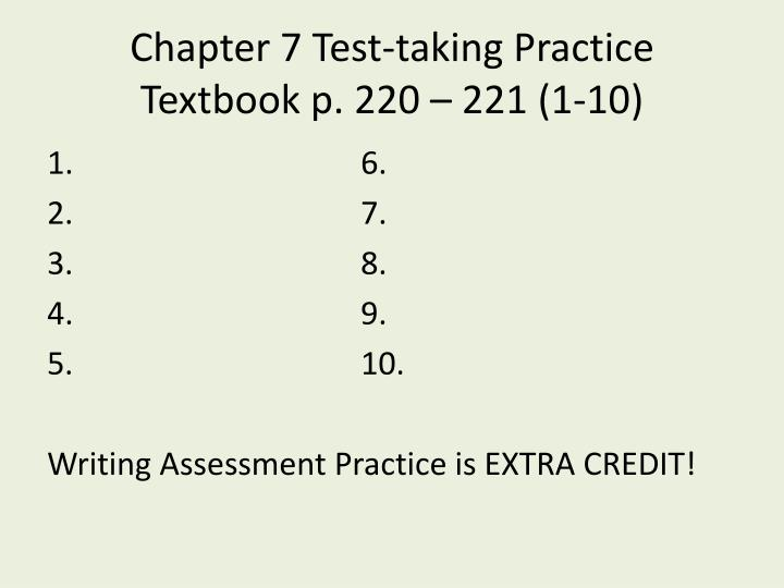 Chapter 7 Test-taking Practice