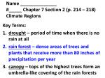 name chapter 7 section 2 p 214 218 climate regions