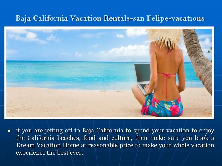 Baja California Vacation Rentals-san Felipe-vacations