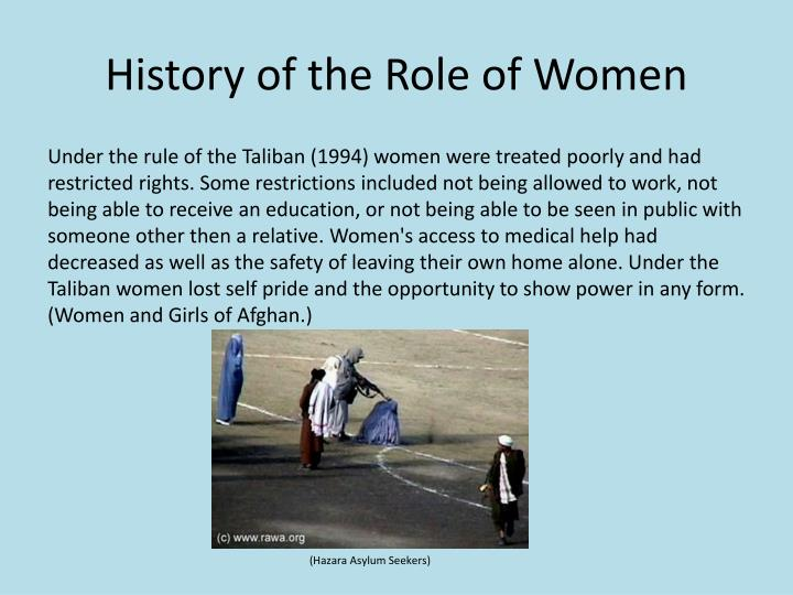 History of the role of women