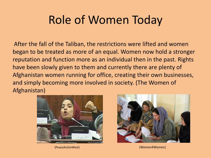 Role of women today