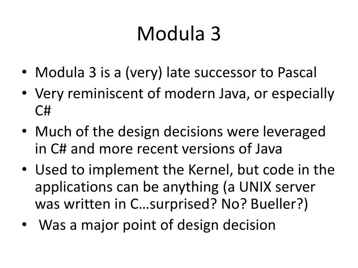 Modula 3