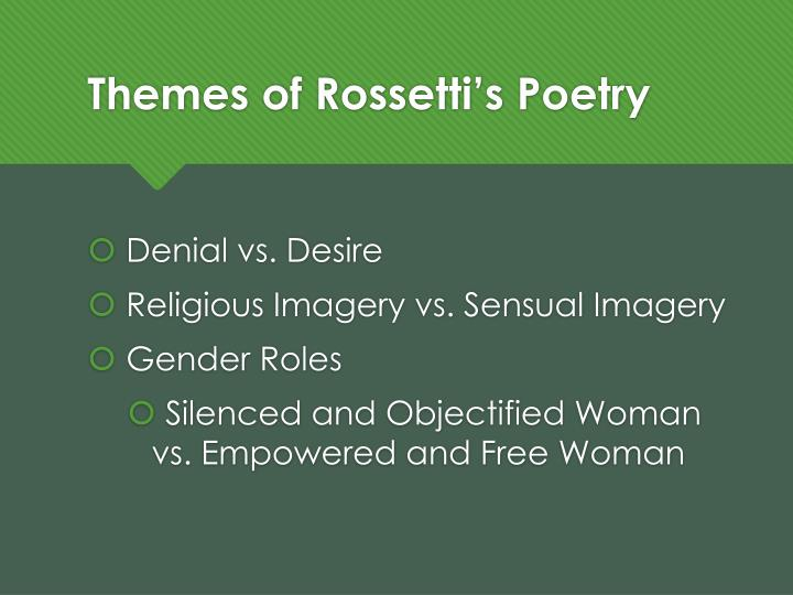 an analysis of themes in the goblin market by christina rossetti Goblin market (composed in april 1859 and published in 1862) is an allegory, one of christina rossetti's most famous poems, and also one of her most shocking it depicts two sisters, laura and .