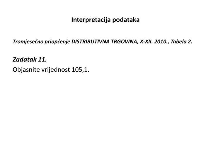 Interpretacija podataka