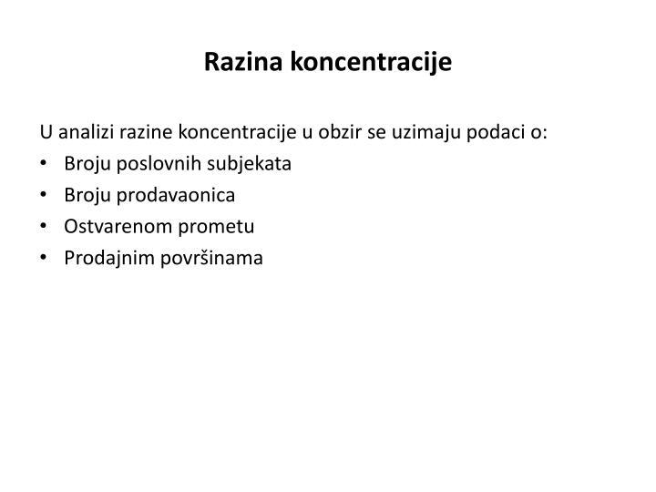 Razina koncentracije