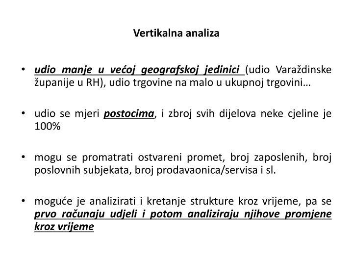 Vertikalna analiza
