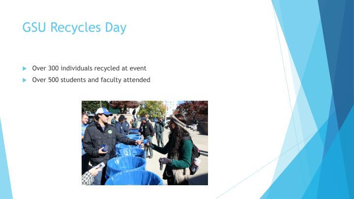 GSU Recycles Day