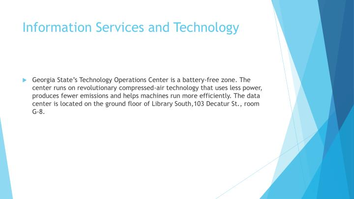 Information Services and Technology