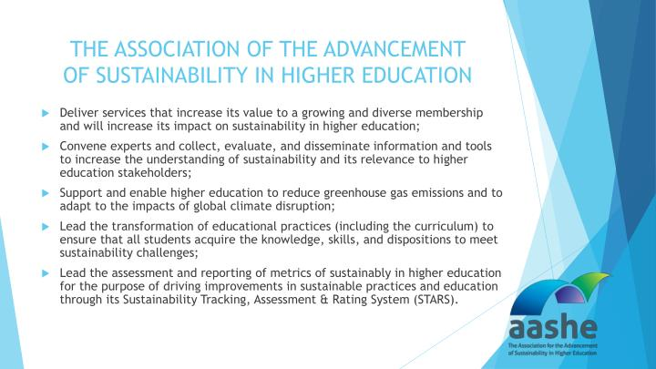 THE ASSOCIATION OF THE ADVANCEMENT