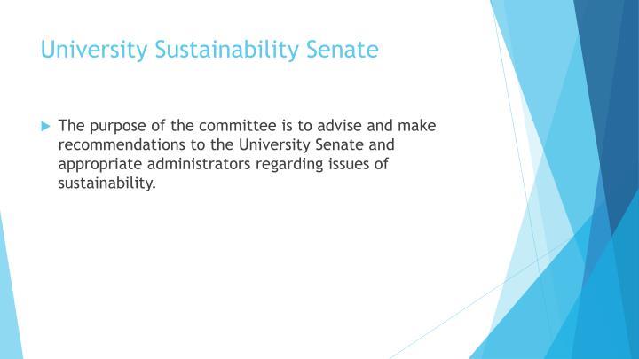 University Sustainability Senate
