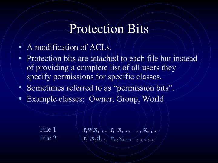 Protection Bits