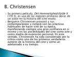 b christensen