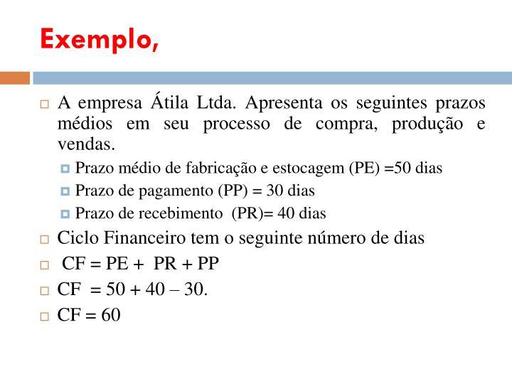 Exemplo,