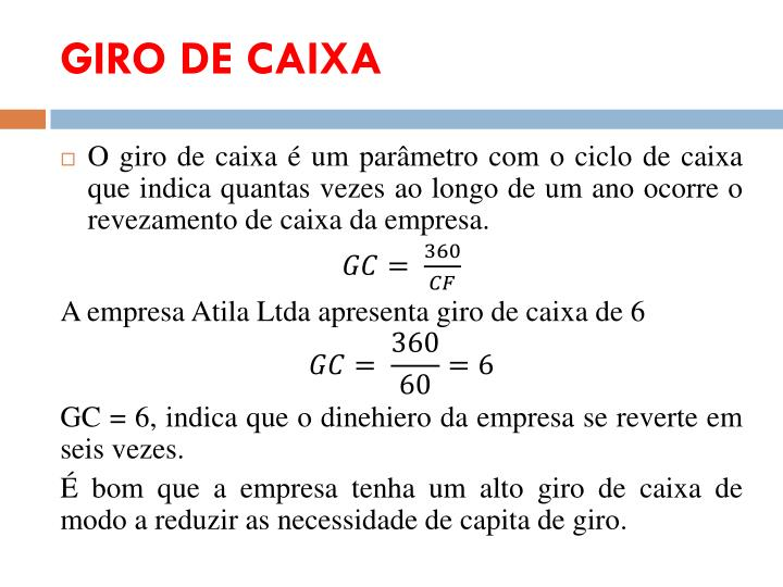 GIRO DE CAIXA