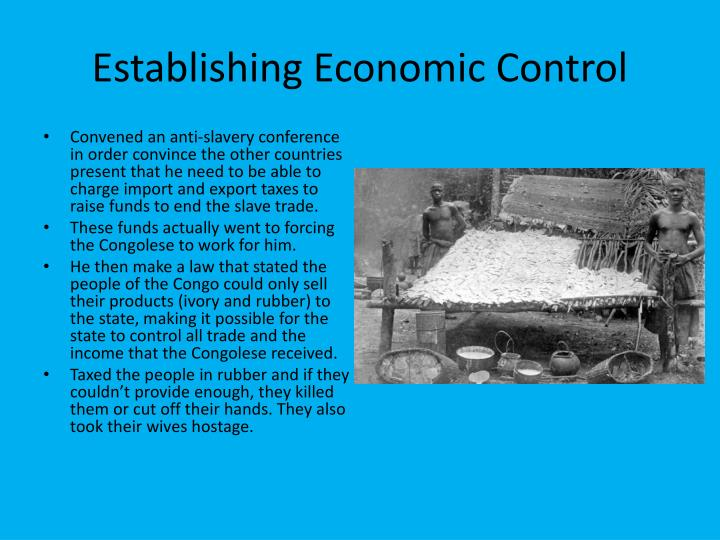 Establishing economic control