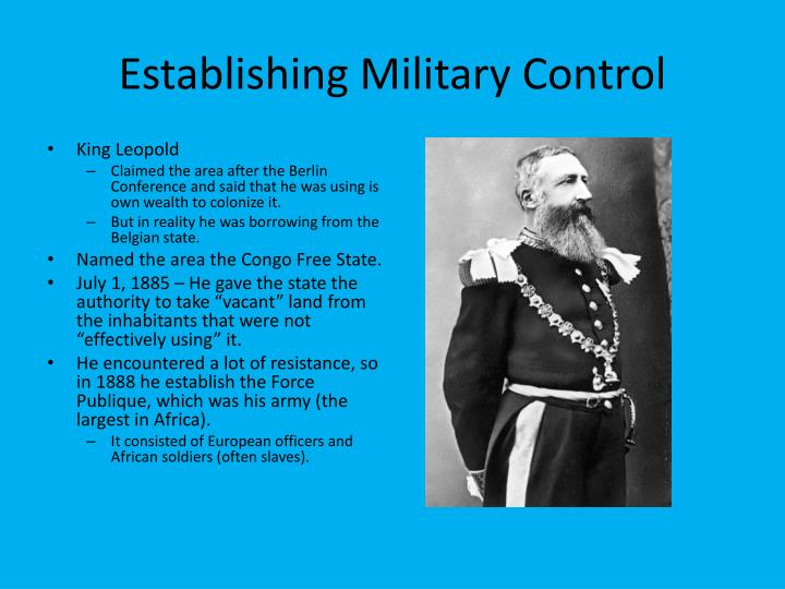 Establishing military control