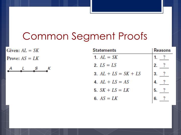 Common Segment Proofs