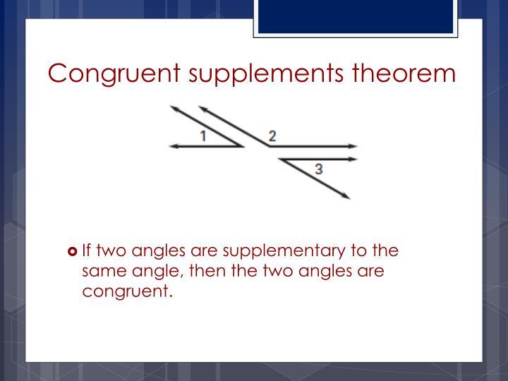 Congruent supplements