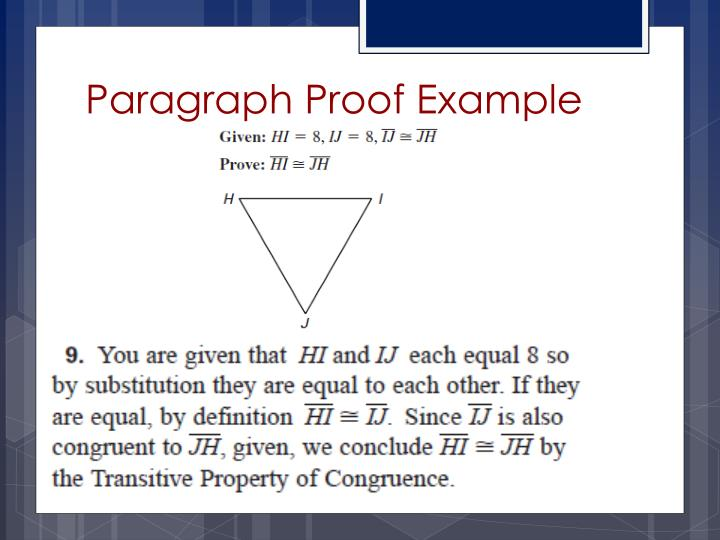 Paragraph Proof Example