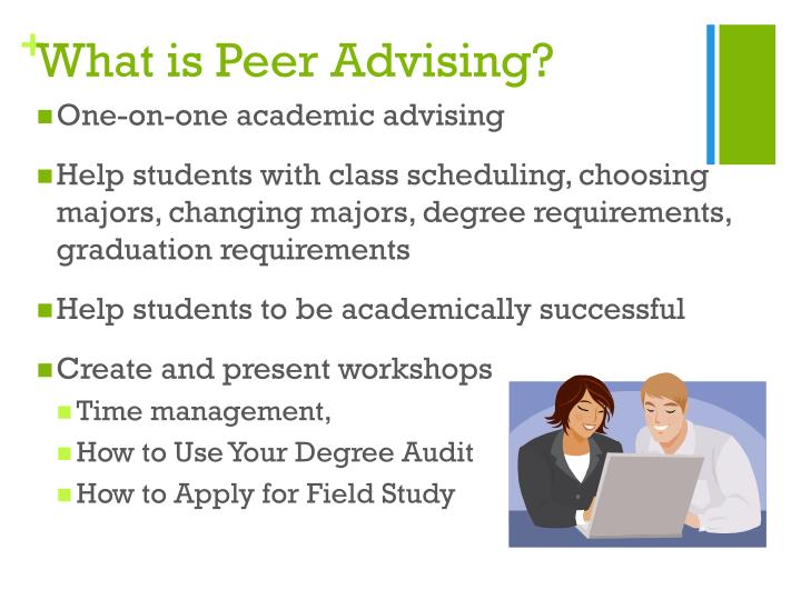 What is Peer Advising?