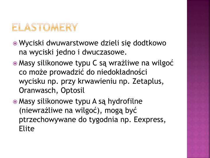Elastomery