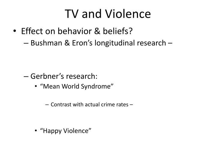TV and Violence