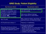 grid study patient eligibility
