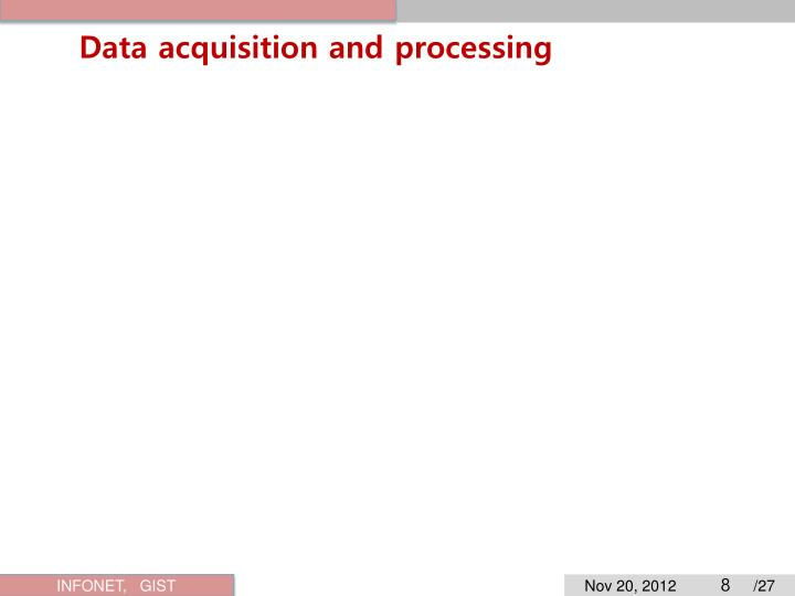 Data acquisition and processing