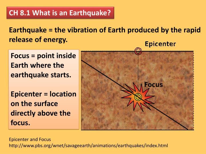 CH 8.1 What is an Earthquake?