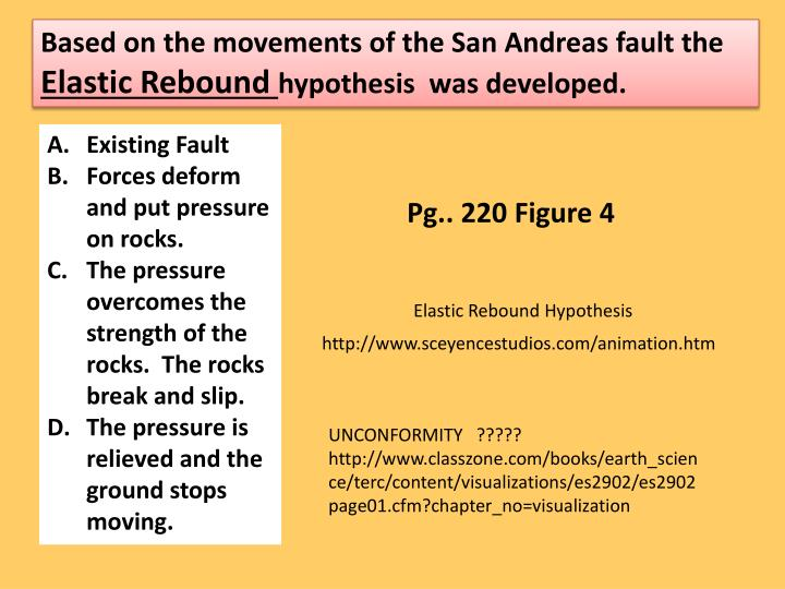 Based on the movements of the San Andreas fault the