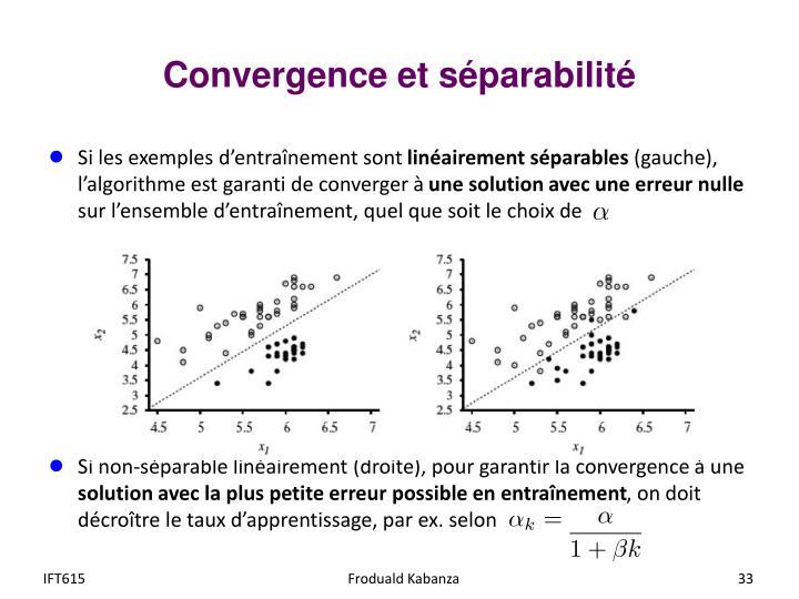 Convergence et séparabilité