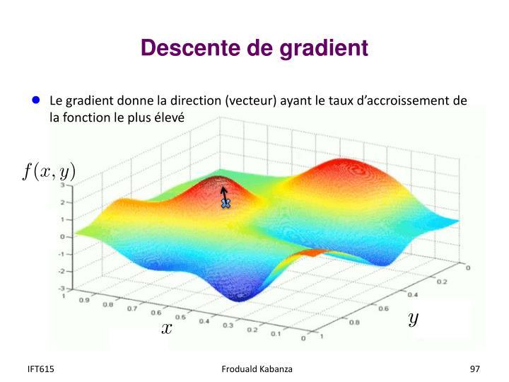 Descente de gradient