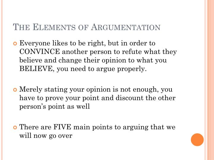 The Elements of Argumentation