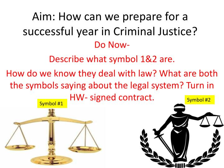 aim how can we prepare for a successful year in criminal justice