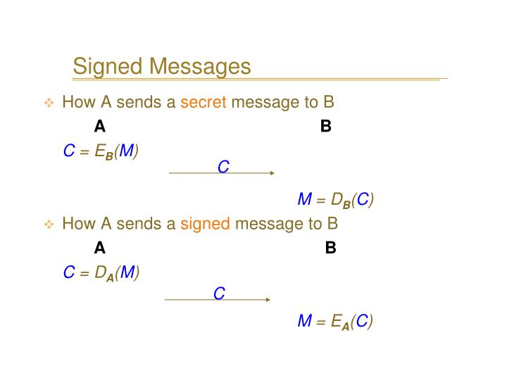 Signed Messages