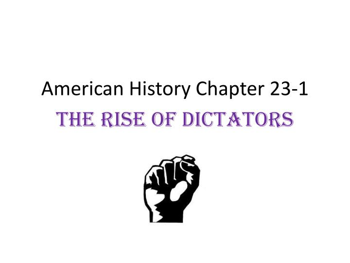 American History Chapter 23-1