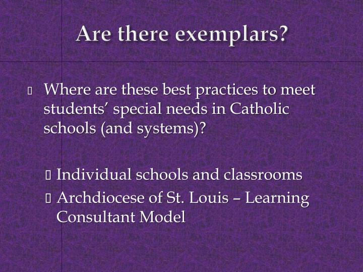 Are there exemplars?