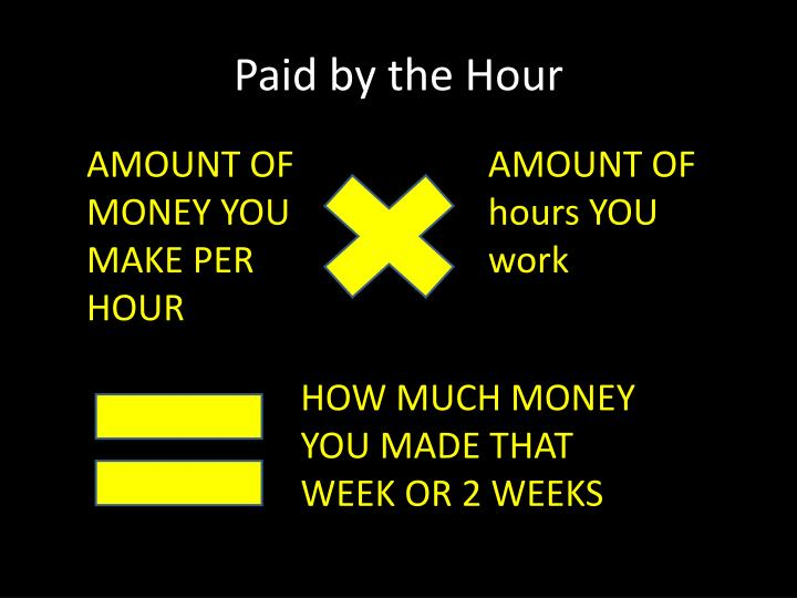 Paid by the Hour