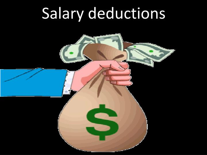 Salary deductions