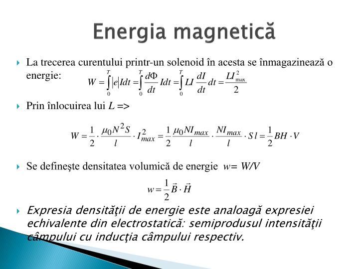 Energia magnetică
