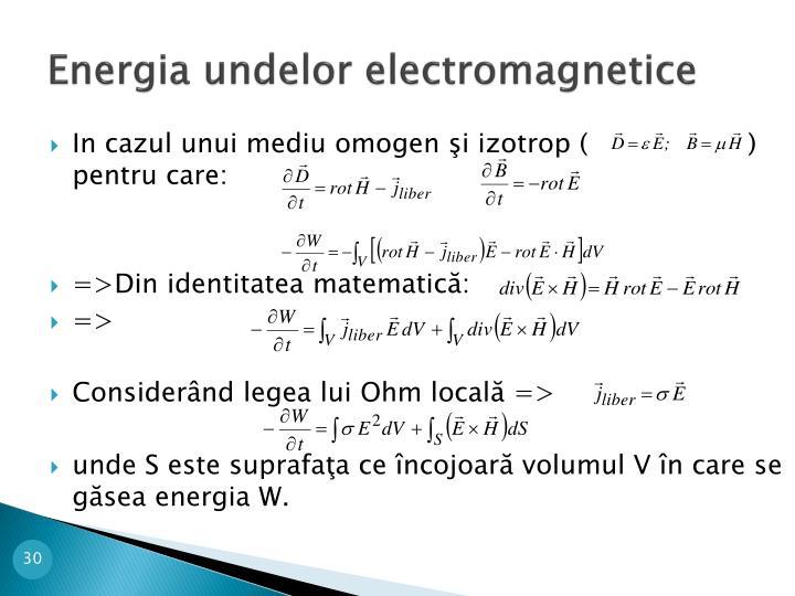 Energia undelor electromagnetice