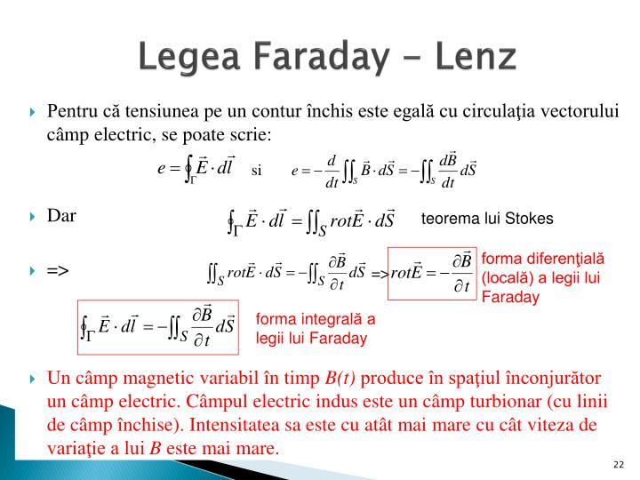Legea Faraday - Lenz