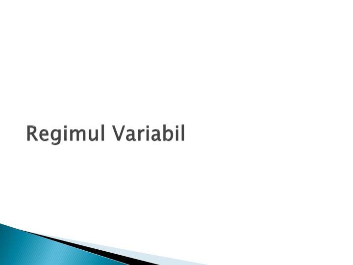 Regimul