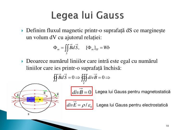 Legea lui Gauss